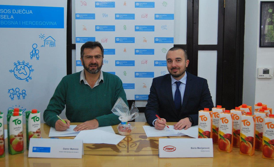 2,500 litres TO juices for children from SOS Children's Villages in Sarajevo and Gračanica